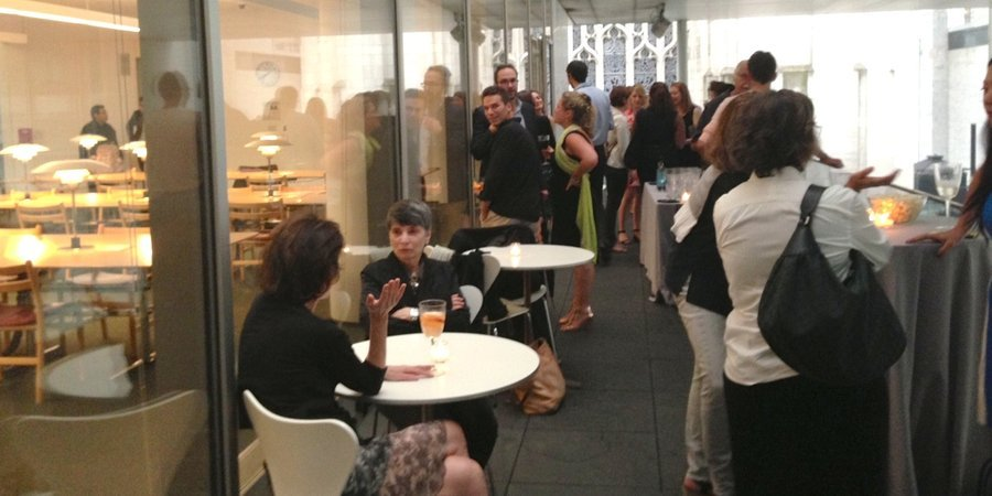 The Museum of Modern Art hosted an intimate summer soiree last night on its library terrace.