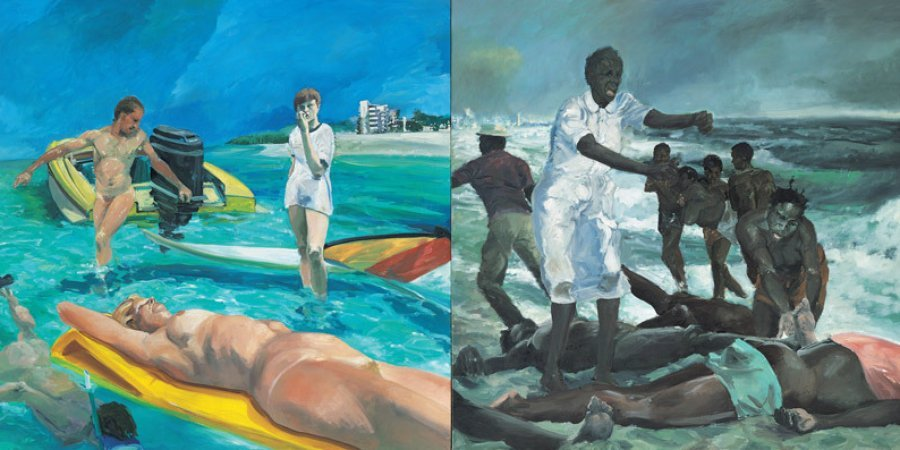 "Eric Fischl, ""A Visit To / A Visit From / The Island,"" 1983 (All images courtesy Whitney Museum)"