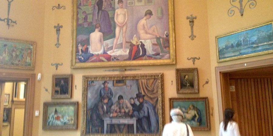 Masterpieces by Cezanne and Seurat at the Barnes Collection in Philadelphia.