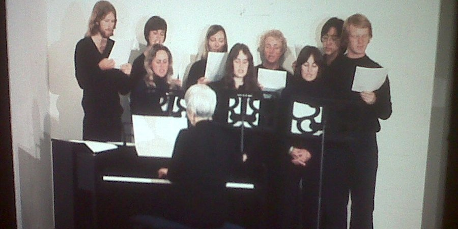 "The singers who performed during Bas Jan Ader's fateful journey-performance ""In Search of the Miraculous,"" in 1975, at the Bronx Museum."