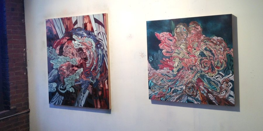 Two of Perez's paintings that will be shown in January at New York's Galerie Lelong.