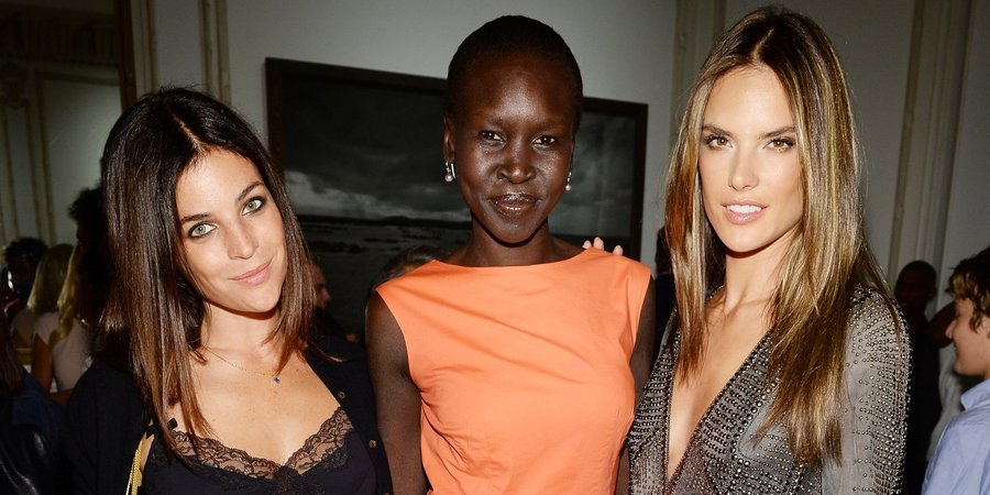 "Julia Roitfeld, Alek Wek, and Alessandra Ambrosio at the opening of ""Peter Lindbergh,"" presented by Vladimir Restoin Roitfeld"