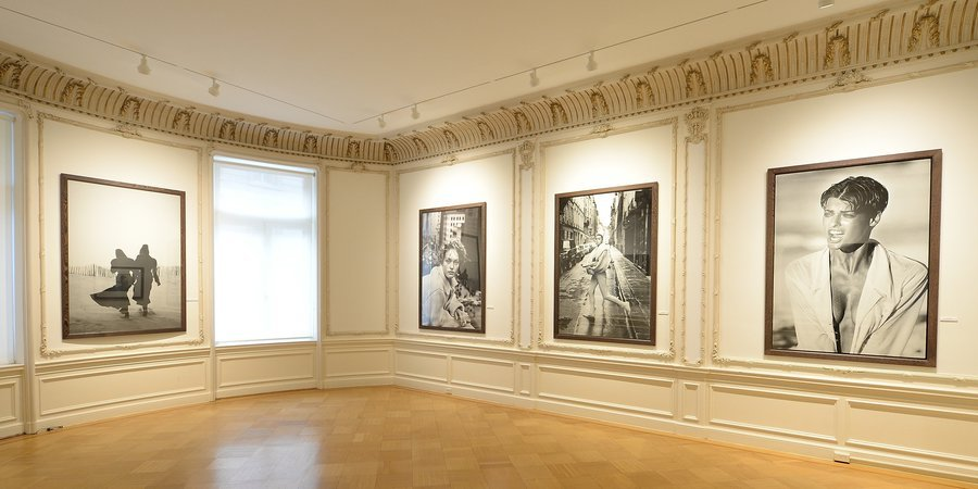 Installation view of Lindbergh's show at Restoin Roitfeld's exhibition space 5A East 78th Street