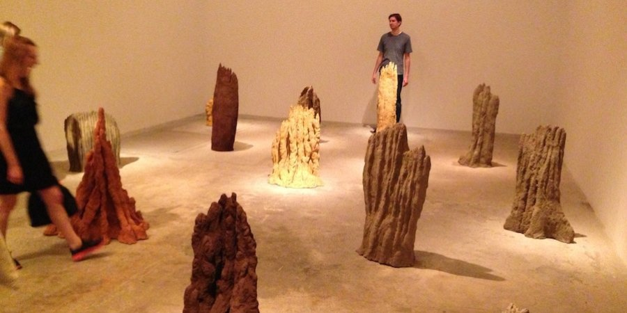 David Adamo's new series of termite-mound sculptures at Untitled