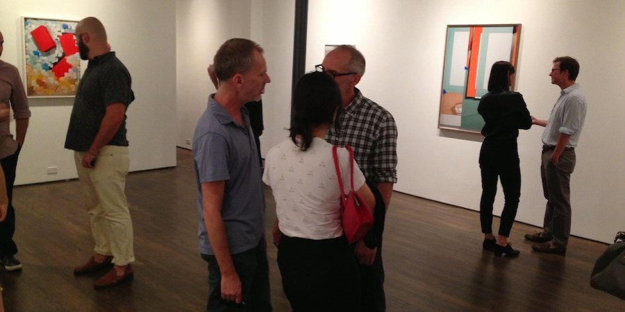 The opening of On Stellar Rays's lovely and spacious new gallery, with a show of John Houck