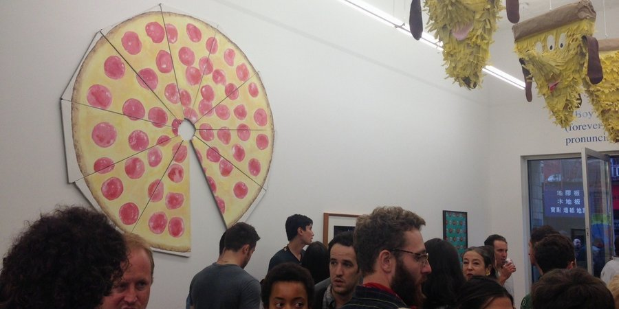 "The opening of Marlborough Broome Street's exhibition ""Pizza Time!"""