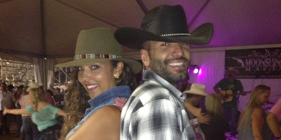 Alia and Abdullah in full rodeo gear