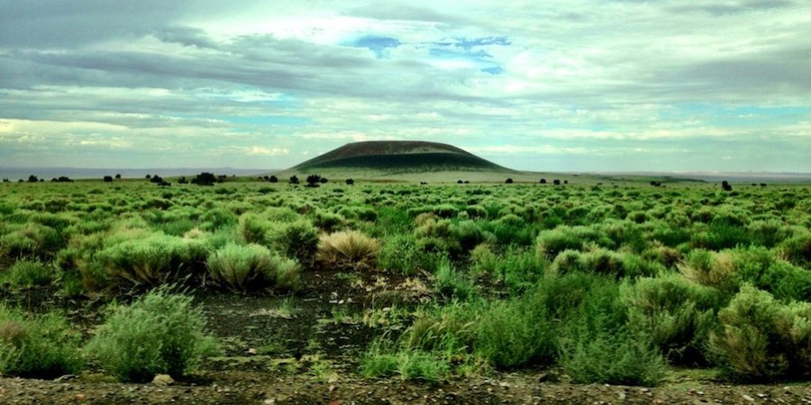 Roden Crater, seen from a distance