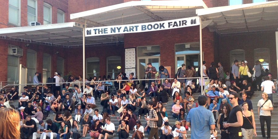 The entrance to the New York Art Book Fair at MoMA PS1