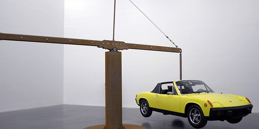 "Chris Burden's ""Porsche With Meteorite"" at the New Museum"