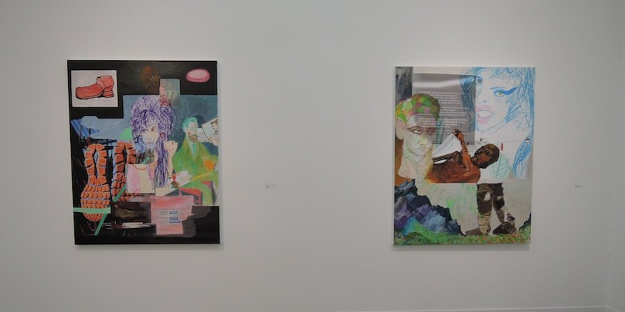 New paintings by Rachel Harrison at Galerie Meyer Kainer