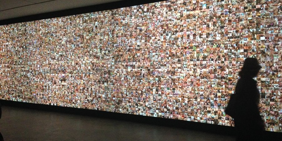 Mike Bouchet's pornographic video collage at Marlborough Chelsea