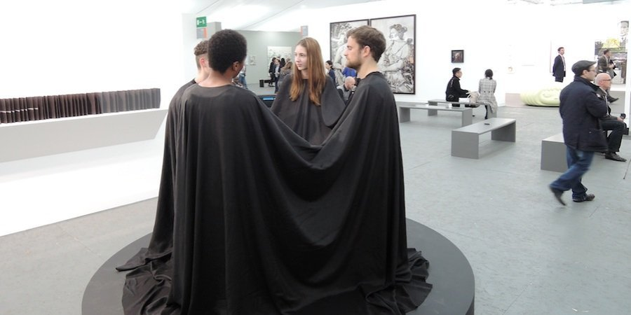 A performance piece at Frieze