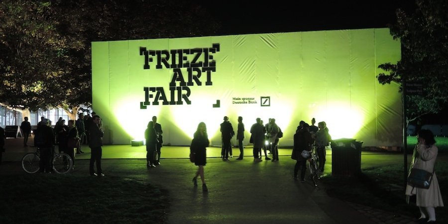 The entrance to the Frieze Art Fair