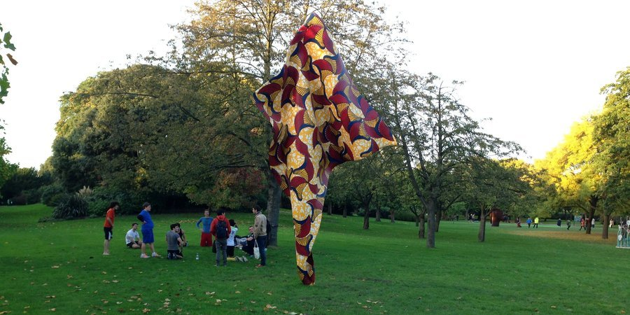 A Yinka Shonibare work at the Frieze sculpture park