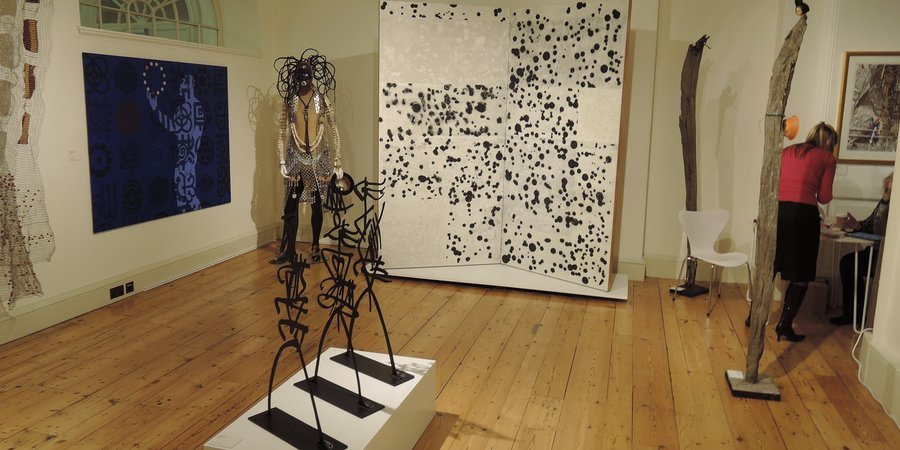 October Gallery's display at London's 1:54 African Art Fair