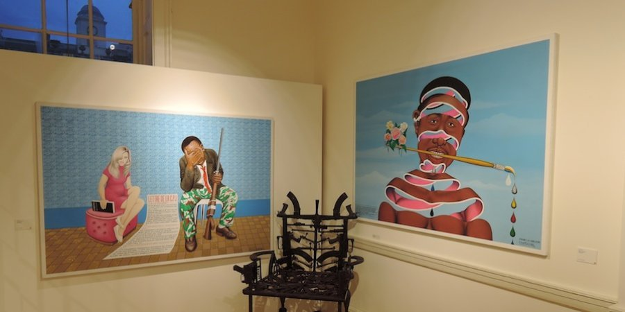 Paintings by Cheri Samba at Magnin-A