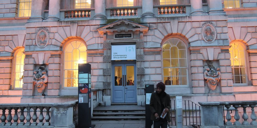 The entrance to the fair at Somerset House