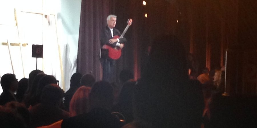 David Byrne performs at the Whitney Studio Party