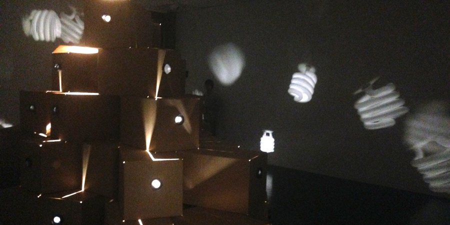 "Charlotte Becket's ""Light"" installation at the Peter Fingesten Gallery at Pace University"