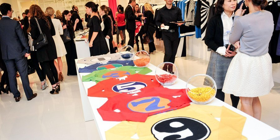 The scene at Lisa Perry's boutique for the launch of the designer's new collaboration with Robert Indiana