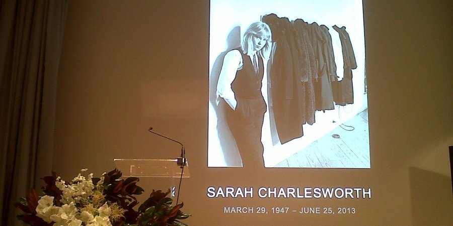 The memorial service for Sarah Charlesworth