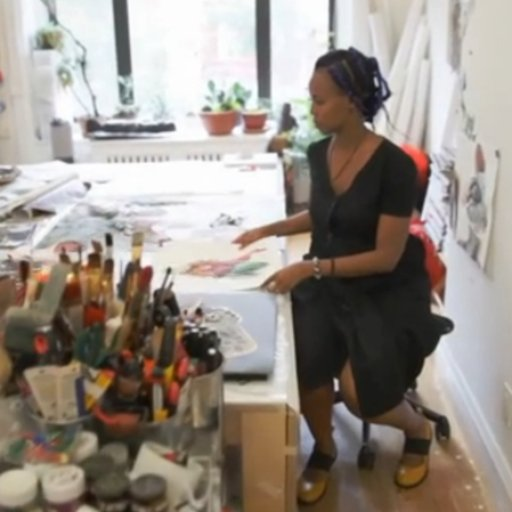 Watch a Video Tour of Wangechi Mutu's Brooklyn Studio
