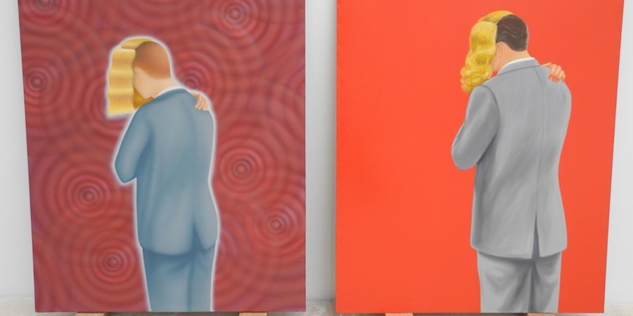 A pair of paintings by Francis Alÿs