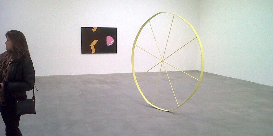 "Gary Hume's ""Wonky Wheel"" at Matthew Marks"