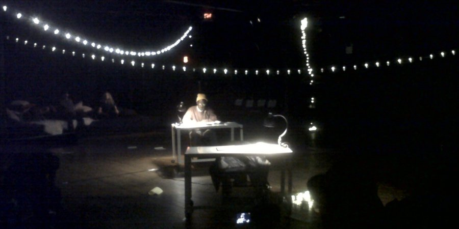 William Pope.L's 25-hour reading of John Cage's anthology as part of Performa