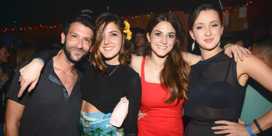 Paul Arnhold, Alison Chemla, Alexandra Chemla, and Maria Baibakova at ArtBinder's release party at Club Mango's