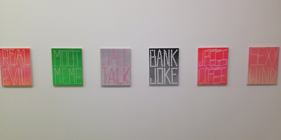 Scott Reeder's terrific and very funny paintings at Lisa Cooley