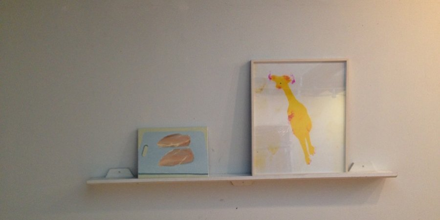 A Sarah Greenberger Rafferty chicken upstairs at Rachel Uffner's new space