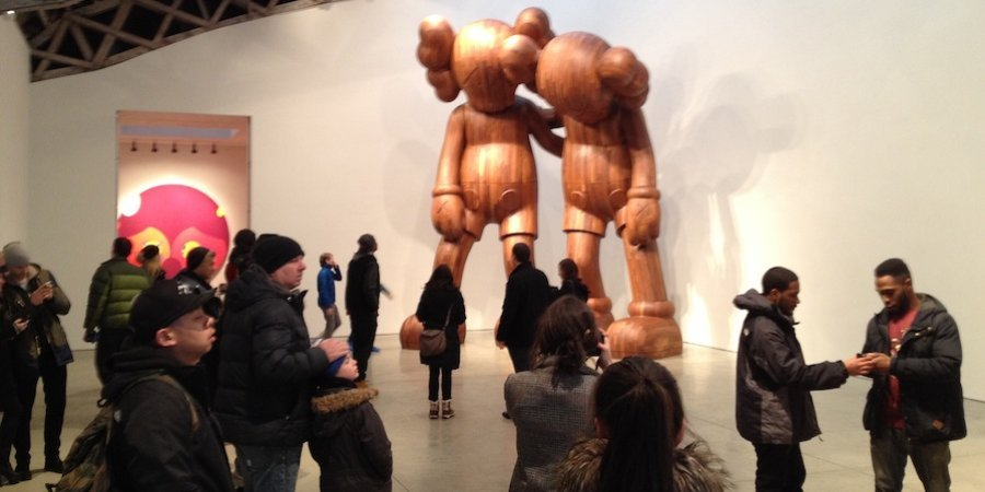 The crowd-pleasing KAWS took over Mary Boone for a show copresented with Emmanuel Perrotin gallery on the Upper East Side.