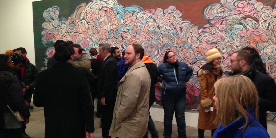 The Emilio Perez opening at Galerie Lelong