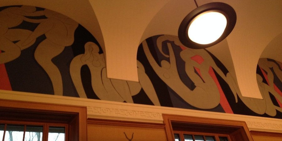 A painted frieze by Matisse in the Barnes's first gallery