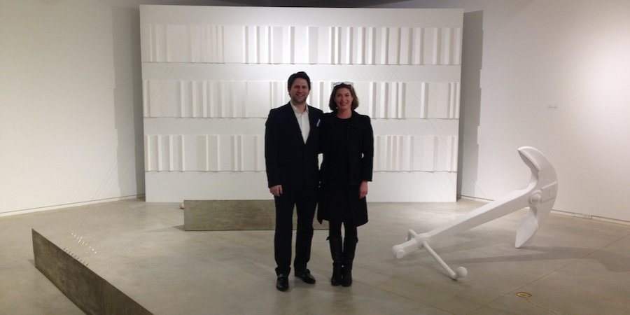 The artist Anton Ginzburg and the show's curator, Claudia Schmuckli