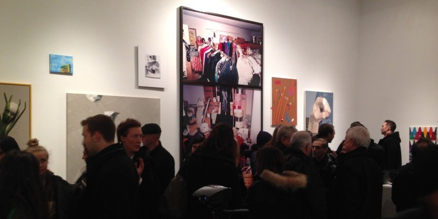 "The scene at the opening of ""Bad Conscience,"" the new group show at Metro Pictures curated by John Miller"