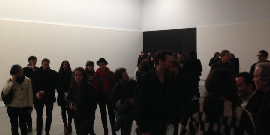 The crowd at the Guyton opening