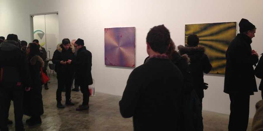 Retina-discombobulating paintings by Anoka Faruqee at Koenig & Clinton