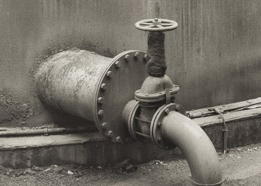 Bernd and Hilla Becher - Pipe Detail: Coal Mine