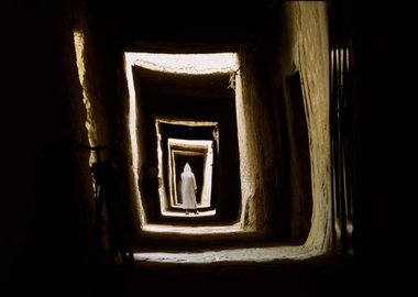 Bruno Barbey - Morocco. Village of Maadid, near Erfoud. 2002.