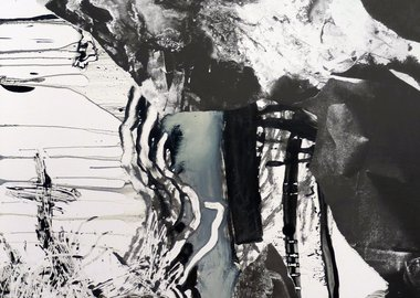 work by Charline Von Heyl - Diva/Diver PP III