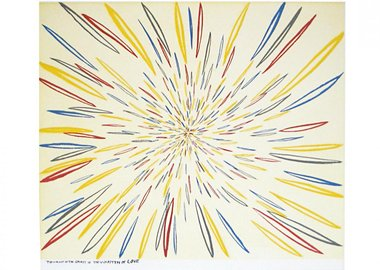 work by Chris Johanson - The Sunlight of the spirit is the Warmth of Love