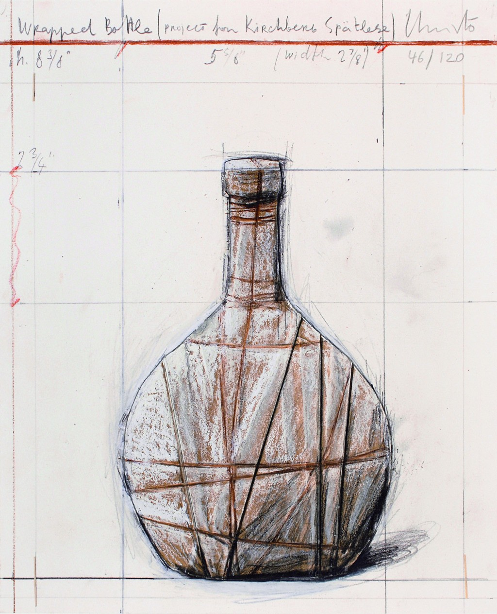 Christo , Wrapped Bottle