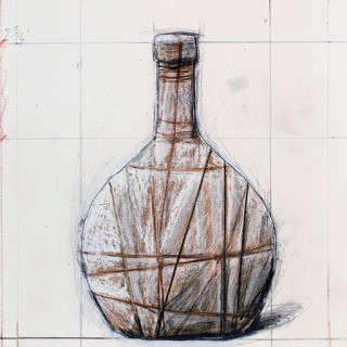Wrapped Bottle art for sale