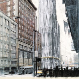 Christo and Jeanne-Claude, Wrapped Building, Project for #1 Times Square