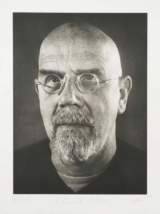 by chuck_close - Self-Portrait/Photogravure