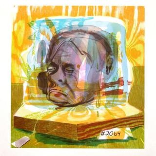 Head of Timothy Leary art for sale