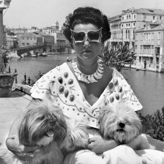 Venice. Mrs Peggy Guggenheim in her palace on the Grand Canal. 1950  art for sale